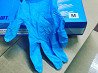 Перчатки нитриловые неопудренные нестерильные голубые с РУ доставка из г.Владивосток